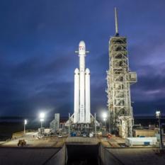 Falcon Heavy on the pad