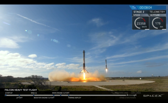 Double booster landing