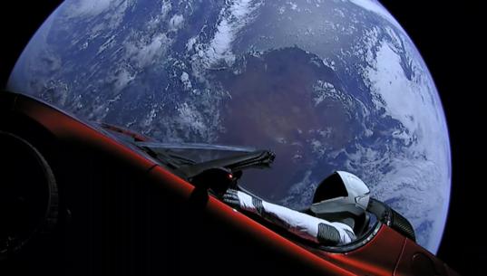 Starman over Australia