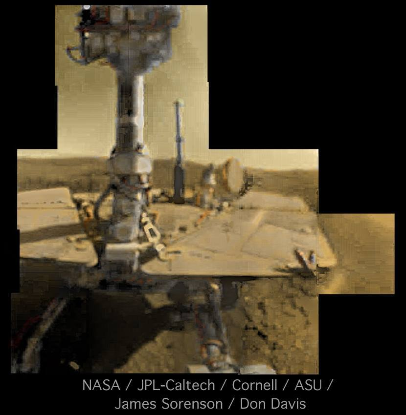Opportunity's sol 5000 self-portrait