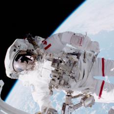 Canadaian astronaut Chris Hadfield on a spacewalk
