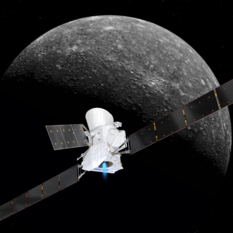 BepiColombo approaching Mercury (4)