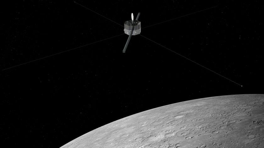 Mercury Magnetospheric Orbiter Above Mercury