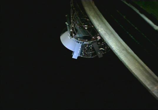 Hayabusa2 Small Monitor Camera image of the sampler horn, 14 August 2018