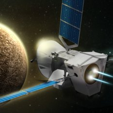 Bepicolombo approaching Mercury (artist concept)