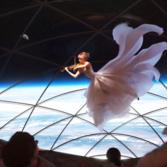 A performance inside the Big Falcon Spaceship (BFS)