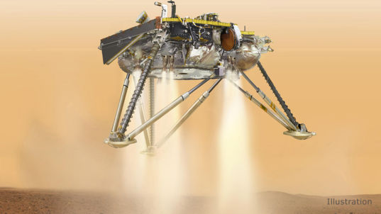 NASA's Insight landing on Mars (artist's concept)