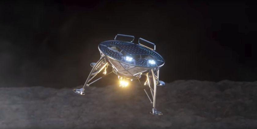 SpaceIL lander approaches lunar surface