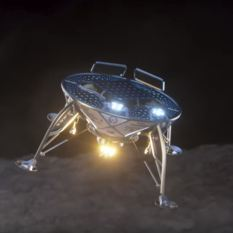 SpaceIL lander approaches lunar surface