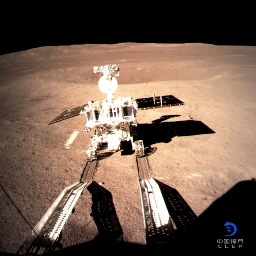 Yutu-2 with six wheels on the Moon!