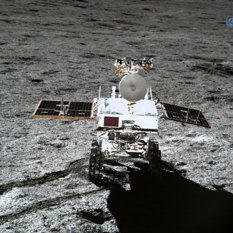 Yutu-2 as seen from Chang'e-4