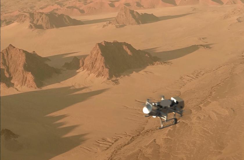 Dragonfly over Titan (artist's concept)