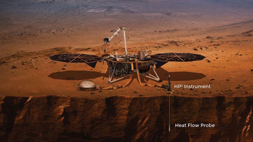 InSight's heat probe instrument (artist's concept)