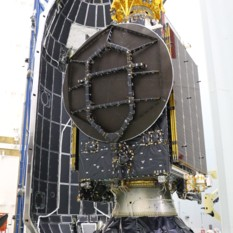 Beresheet, S5 and Nusantara Satu with payload fairing