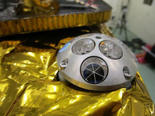 NASA-provided laser retro-reflector on Beresheet