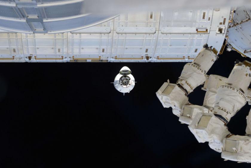 Crew Dragon approach 1