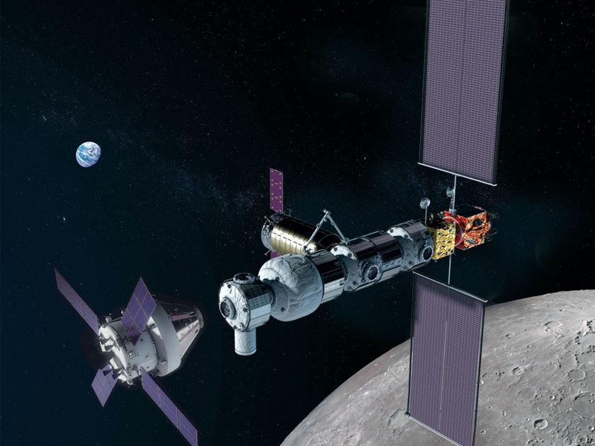 Lunar Gateway artist's concept (Feb. 2019)