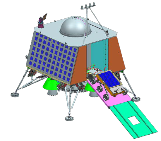 Chandrayaan-2 lander deploying rover