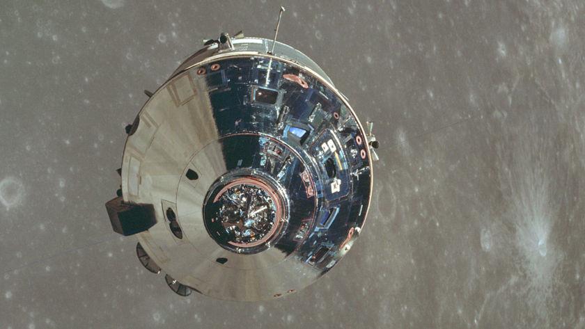 Apollo 10 CSM in lunar orbit