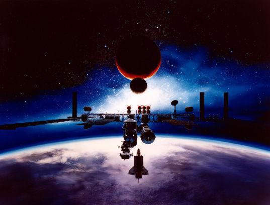 Space Exploration Initiative artist's concept