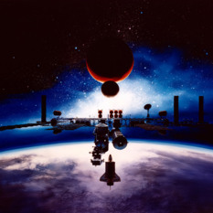 Space Exploration Initiative artist's concept