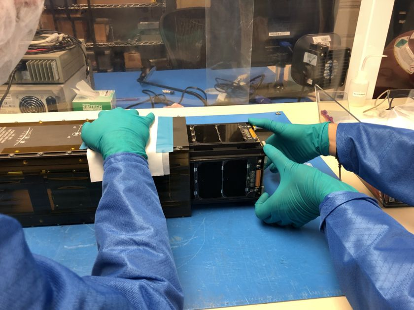 LightSail 2 in the Cal Poly San Luis Obispo clean room