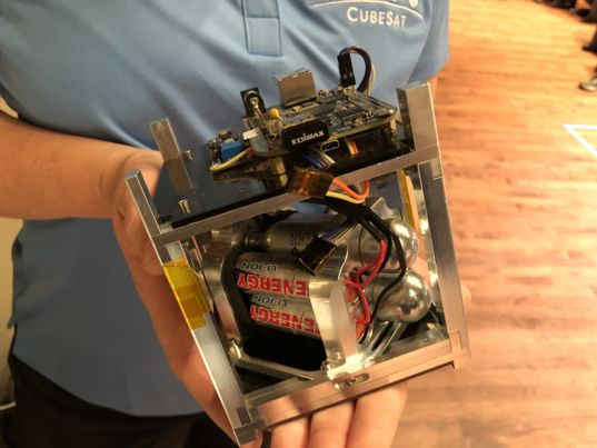 Amelia Greig's Pocket Rocket installed in a single cubesat unit