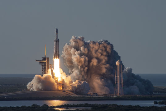 SpaceX Falcon Heavy Arabsat-6A launch