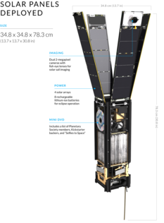 LightSail 2 with solar panels open