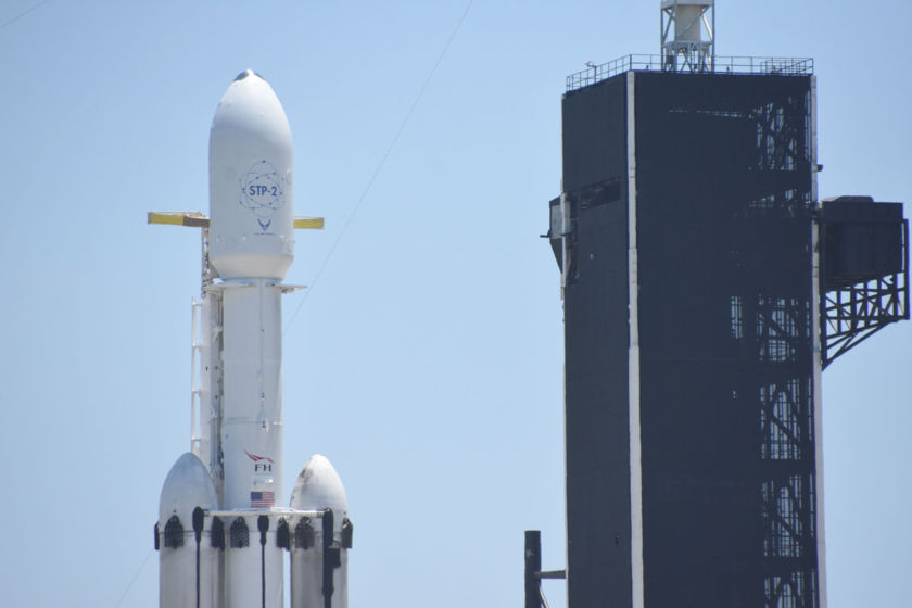 STP-2 with LightSail 2 on the pad, payload closeup