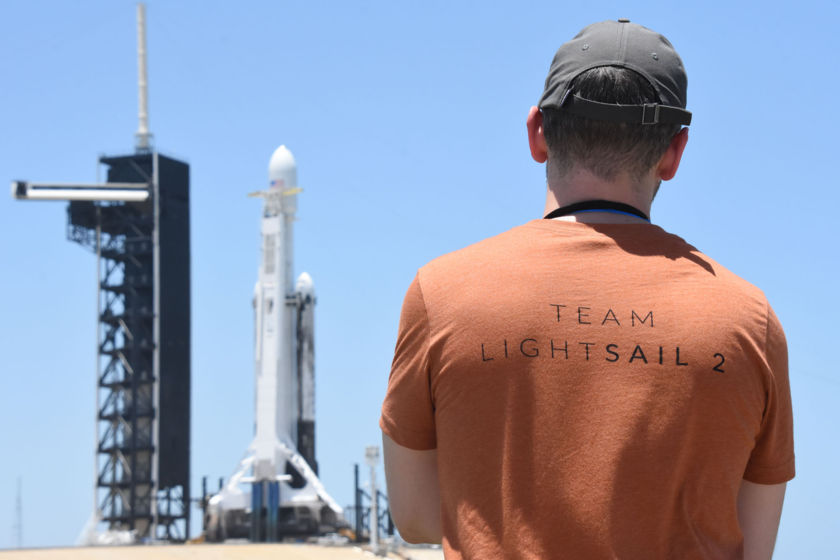 Team LightSail 2 visits the Falcon Heavy