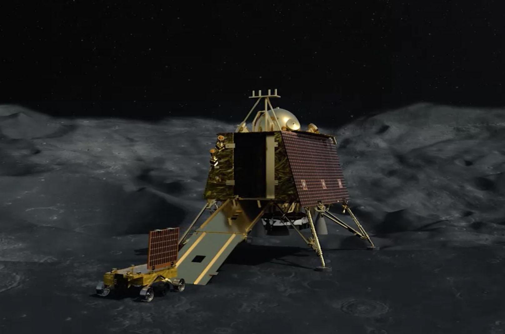 India S Vikram Spacecraft Apparently Crash Lands On Moon