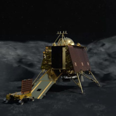 Chandrayaan-2 Vikram lander deploying rover
