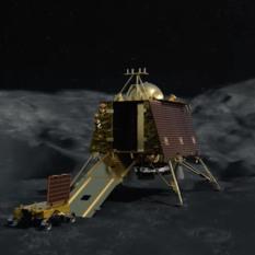 Chandrayaan-2 Vikram lander deploying rover