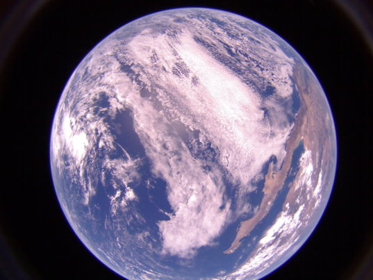 Pacific Ocean and Mexico from LightSail 2