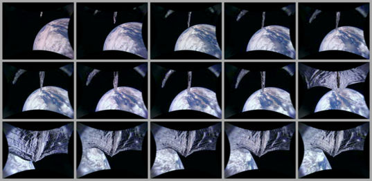 LightSail 2 Sail Deployment Thumbnails (Camera 2)