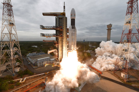 Liftoff of Chandrayaan-2