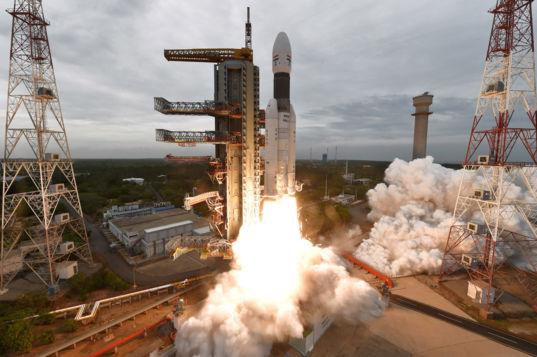 Liftoff of Chandrayaan-2
