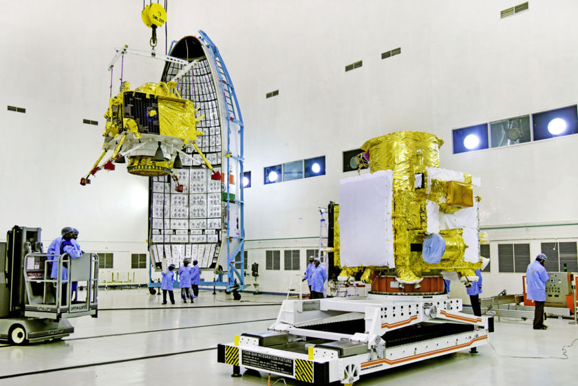 Chandrayaan-2 Vikram lander integration