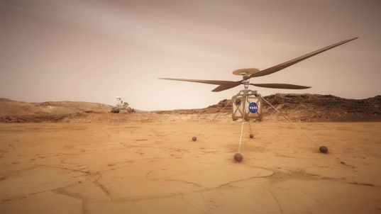 Mars Helicopter Artist's Concept