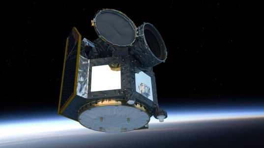 CHEOPS above Earth (Artist's Impression)