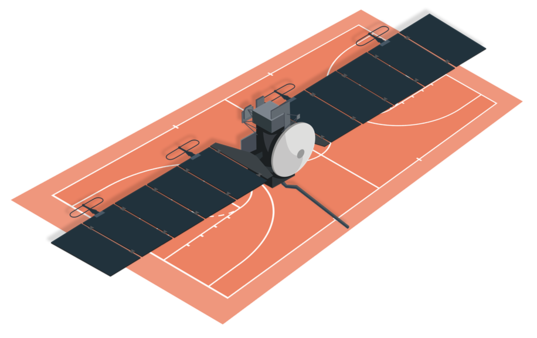 Europa Clipper on Basketball Court