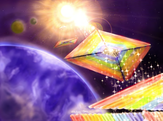 Diffractive LightSails NIAC concept