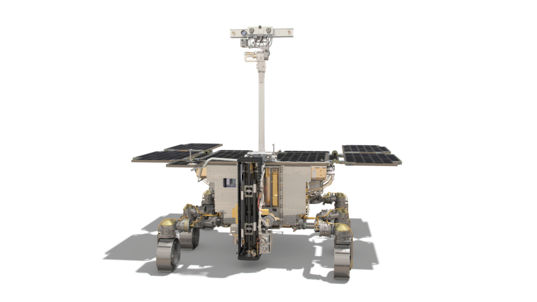 Rosalind Franklin, the ExoMars 2020 Rover, Drill Deployed