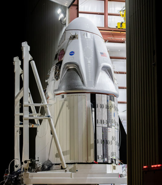 SpaceX Crew Dragon at Launch Complex 39A