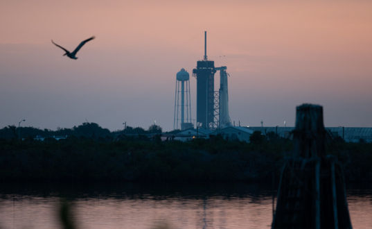 SpaceX Crew Dragon Demo 2 sunrise