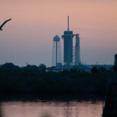 SpaceX Crew Dragon Demo 2 sunrise
