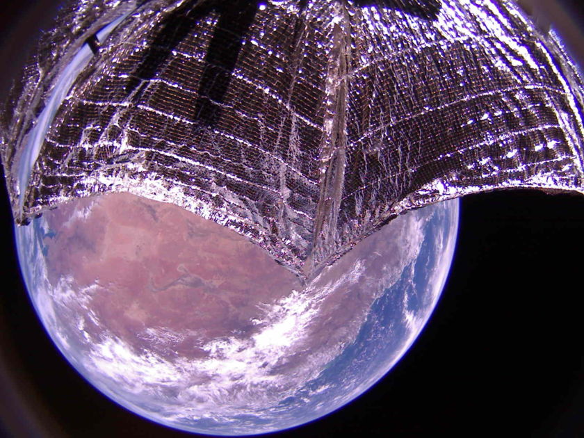 LightSail 2 near central and eastern Australia