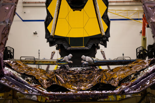 James Webb Space Telescope tower test