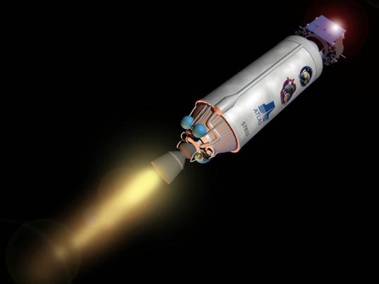 LCROSS rides on a Centaur toward the Moon